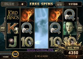 Игровой автомат The Lord of the Rings