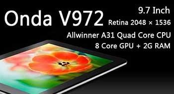 Onda V972 – китайские планшеты всем покажут